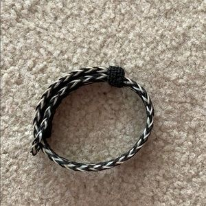 adjustable bracelet made of real horse hair